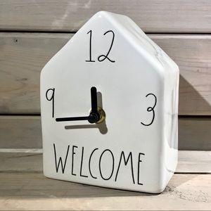 Rae Dunn WELCOME Ceramic House Clock NWT